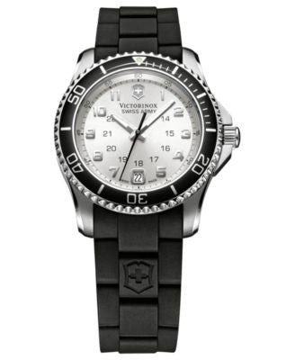 Victorinox Swiss Army Watch, Women's Maverick GS Black Rubber Strap 34mm 249048 - A Vogily Exclusive