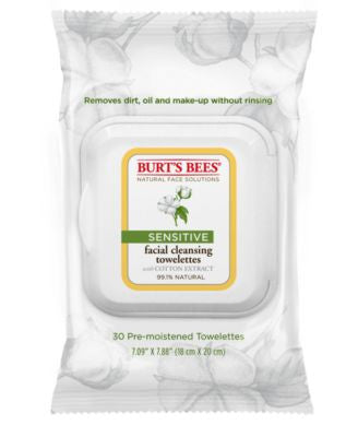 Burt's Bees Facial Cleansing Towelettes - Sensitive, 30 count