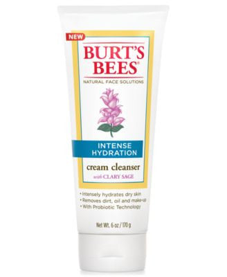 Burt's Bees Intense Hydration Cream Cleanser, 6 oz