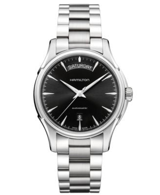 Hamilton Watch, Men's Swiss Automatic Jazzmaster Day Date Stainless Steel Bracelet 40mm H32505131