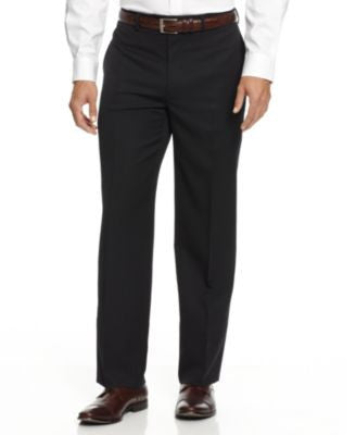 Alfani Black Solid Texture Pants