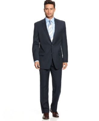 Alfani Navy Sharkskin Suit Separates