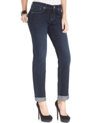 Style & Co. Curvy-Fit Caneel Wash Cuffed Boyfriend Jeans, Only at Vogily