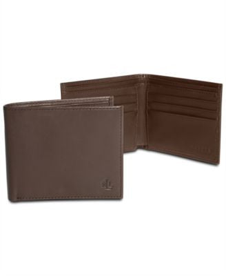 Lauren by Ralph Lauren Burnished Leather Slim Billfold Wallet