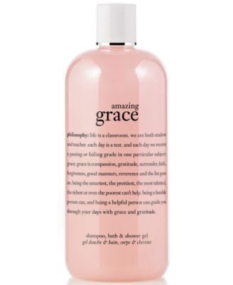 philosophy amazing grace 3-in-1 shampoo, shower gel and bubble bath, 16 oz