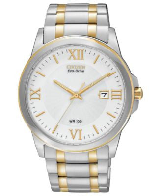 Citizen Men's Eco-Drive Two-Tone Stainless Steel Bracelet Watch 40mm BM7264-51A