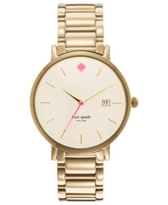 kate spade new york Watch, Women's Gramercy Grand Gold-Tone Stainless Steel Bracelet 38mm 1YRU0009