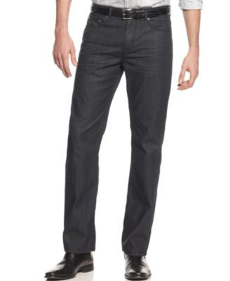 Alfani Jeans, Deker Straight-Fit Coated Jeans