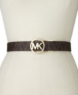 MICHAEL Michael Kors Reversible Logo with Logo Buckle Belt