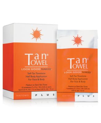 TanTowel Half Body Plus, 10 Pack