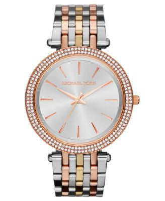Michael Kors Women's Darci Tri-Tone Stainless Steel Bracelet Watch 39mm MK3203
