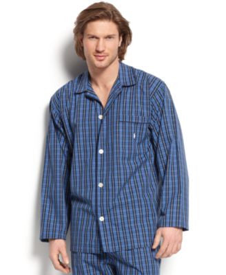 Polo Ralph Lauren Men's Harwich Plaid Long-Sleeved Pajama Top