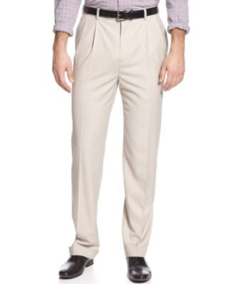 Louis Raphael Classic-Fit Hidden Extention Pleated Dress Pants