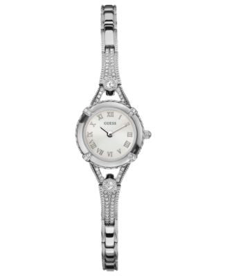 GUESS Watch, Women's Silver Tone Bracelet 22mm U0135L1