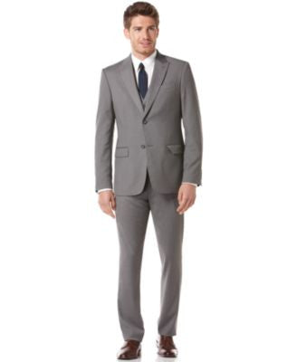 Perry Ellis Grey Slim Fit Suit Separatess