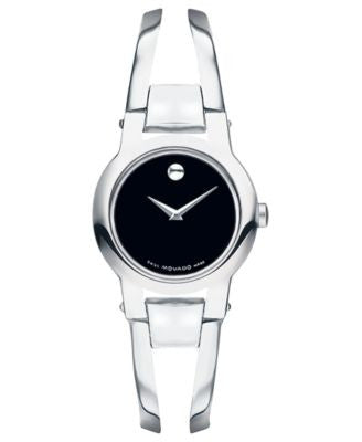 Movado Women's Amorosa Stainless Steel Bangle Bracelet Watch 24mm 0604759