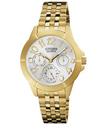 Citizen Women's Gold Tone Stainless Steel Bracelet Watch 35mm ED8102-56A