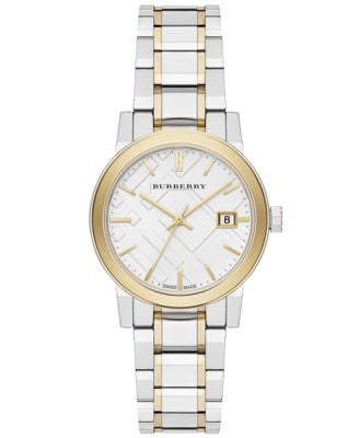 Burberry Watch, Women's Swiss Two-Tone Stainless Steel Bracelet 34mm BU9115