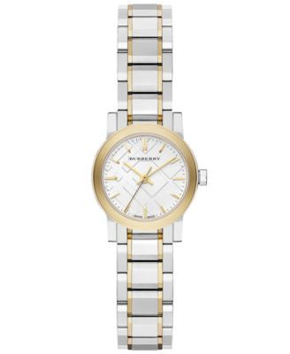 Burberry Watch, Women's Swiss Two-Tone Stainless Steel Bracelet 26mm BU9217