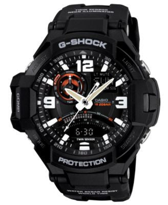 G-Shock Men's Analog-Digital Black Resin Strap Watch 51x52mm GA1000-1A