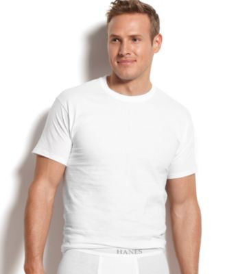 Hanes Platinum Men's Underwear, Crew Neck T-Shirt 5 Pack