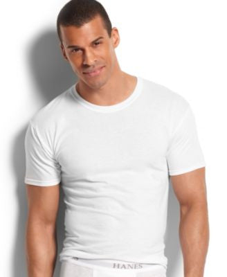 Hanes Platinum Men's Underwear, Slim Fit Crew Neck T-Shirt 5 Pack