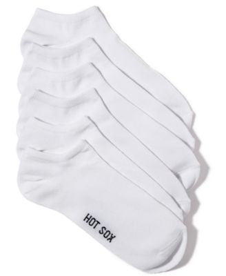 Hot Sox Women's Solid 6 pack Socks