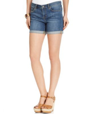 TWO by Vince Camuto Shorts, Cuffed Denim, Authentic Wash