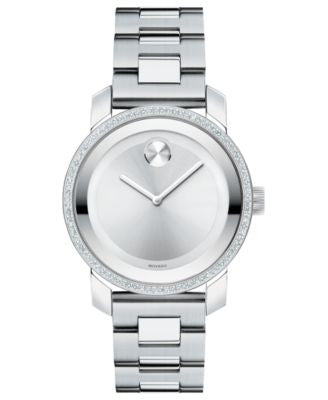 Movado Women's Swiss Bold Diamond (2/5 ct. t.w.) Stainless Steel Bracelet Watch 36mm 3600149