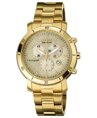 Citizen Women's Chronograph Drive from Citizen Eco-Drive Gold-Tone Stainless Steel Bracelet Watch 41