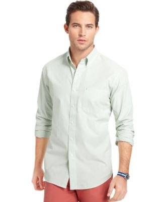 IZOD Long Sleeve Stripe Essential Shirt