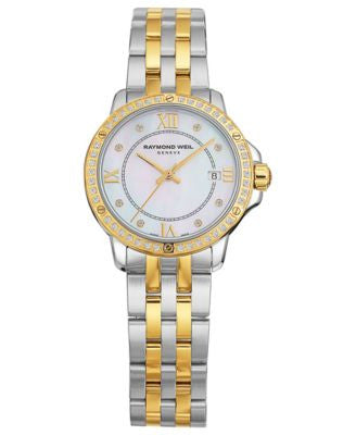 RAYMOND WEIL Watch, Women's Swiss Tango Diamond (1/5 ct. t.w.) Two-Tone Stainless Steel Bracelet 28m