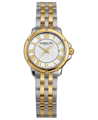 RAYMOND WEIL Watch, Women's Swiss Tango Two-Tone Stainless Steel Bracelet 28mm 5391-STP-00308