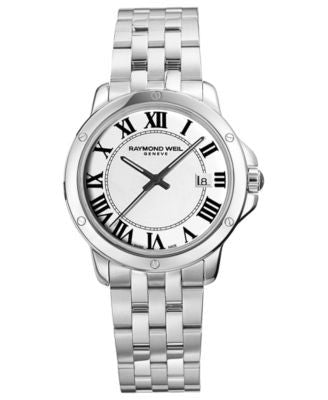 RAYMOND WEIL Watch, Men's Swiss Tango Stainless Steel Bracelet 39mm 5591-ST-00300