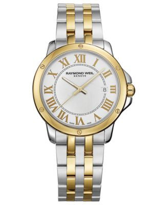 RAYMOND WEIL Watch, Men's Swiss Tango Two-Tone Stainless Steel Bracelet 39mm 5591-STP-00308
