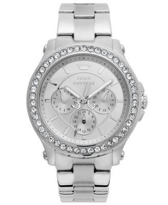 Juicy Couture Watch, Women's Pedigree Stainless Steel Bracelet 38mm 1901048