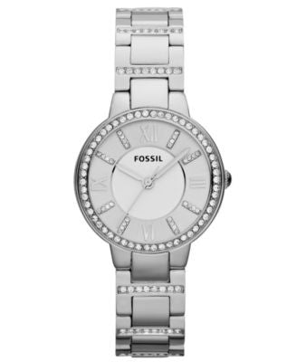 Fossil Women's Virginia Stainless Steel Bracelet Watch 30mm ES3282