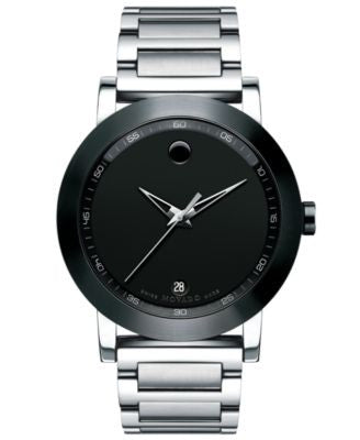 Movado Men's Swiss Museum Sport Stainless Steel Bracelet Watch 42mm 0606604