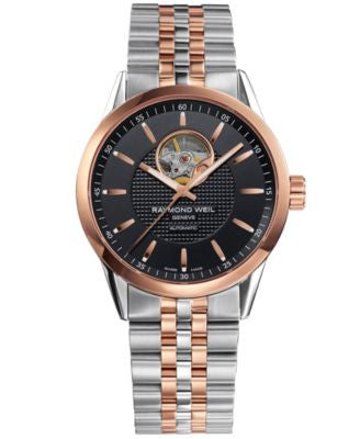 RAYMOND WEIL Watch, Men's Swiss Automatic Freelancer Two-Tone Stainless Steel Bracelet 42mm 2710-SP5