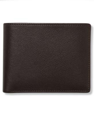Perry Ellis Men's Leather Park Avenue Bifold Wallet