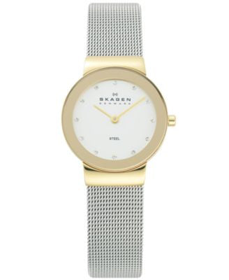 Skagen Watch, Women's Stainless Steel Mesh Bracelet 26mm 358SGSCD