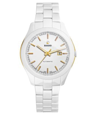 Rado Watch, Women's Swiss Automatic Hyperchrome White High-Tech Ceramic Bracelet 36mm R32257012
