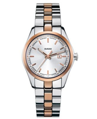 Rado Watch, Women's Swiss Hyperchrome Rose Gold-Tone Ceramos® and Stainless Steel Bracelet 32mm R329