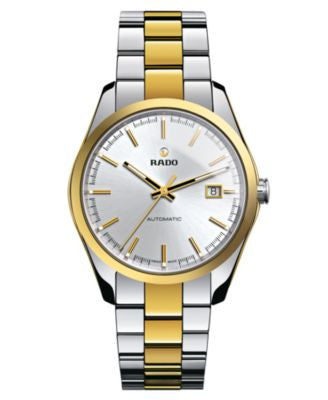 Rado Watch, Men's Swiss Automatic Hyperchrome Gold-Tone Ceramos® and Stainless Steel Bracelet 40mm R