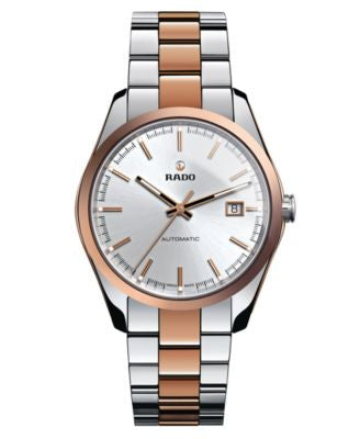 Rado Watch, Men's Swiss Automatic Hyperchrome Rose Gold-Tone Ceramos® and Stainless Steel Bracelet 4