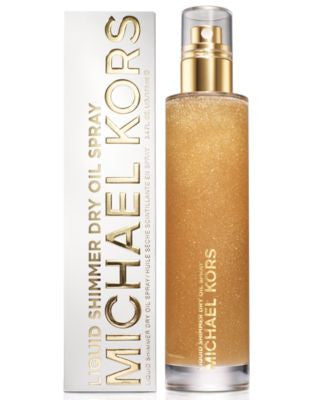 Michael Kors Bath & Body Liquid Shimmer Dry Oil Spray, 3.4 oz