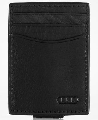 Lauren by Ralph Lauren Oil-Milled Card Case with Money Clip