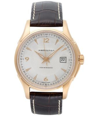 Hamilton Watch, Men's Swiss Automatic Jazzmaster Viewmatic Brown Leather Strap 40mm H32645555