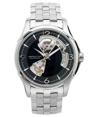 Hamilton Watch, Men's Swiss Automatic Jazzmaster Open Heart Stainless Steel Bracelet 40mm H32565135