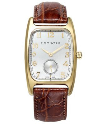 Hamilton Watch, Men's Swiss Boulton Brown Leather Strap 27mm H13431553